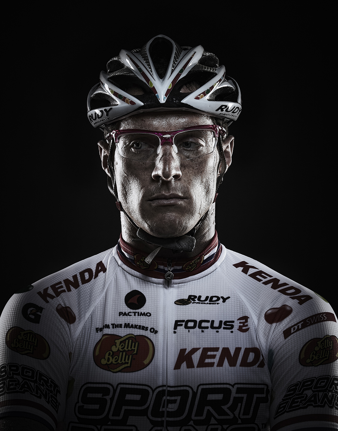 Portrait of Pro Cyclist Brad Huff