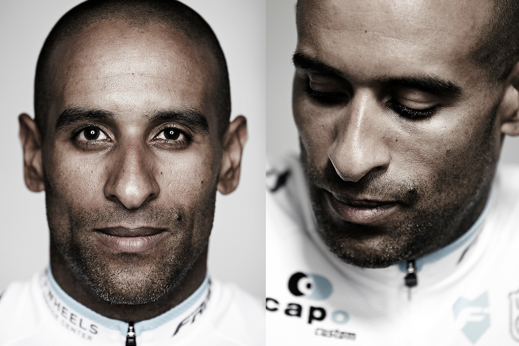 Portrait of pro cyclist Ivan Dominguez