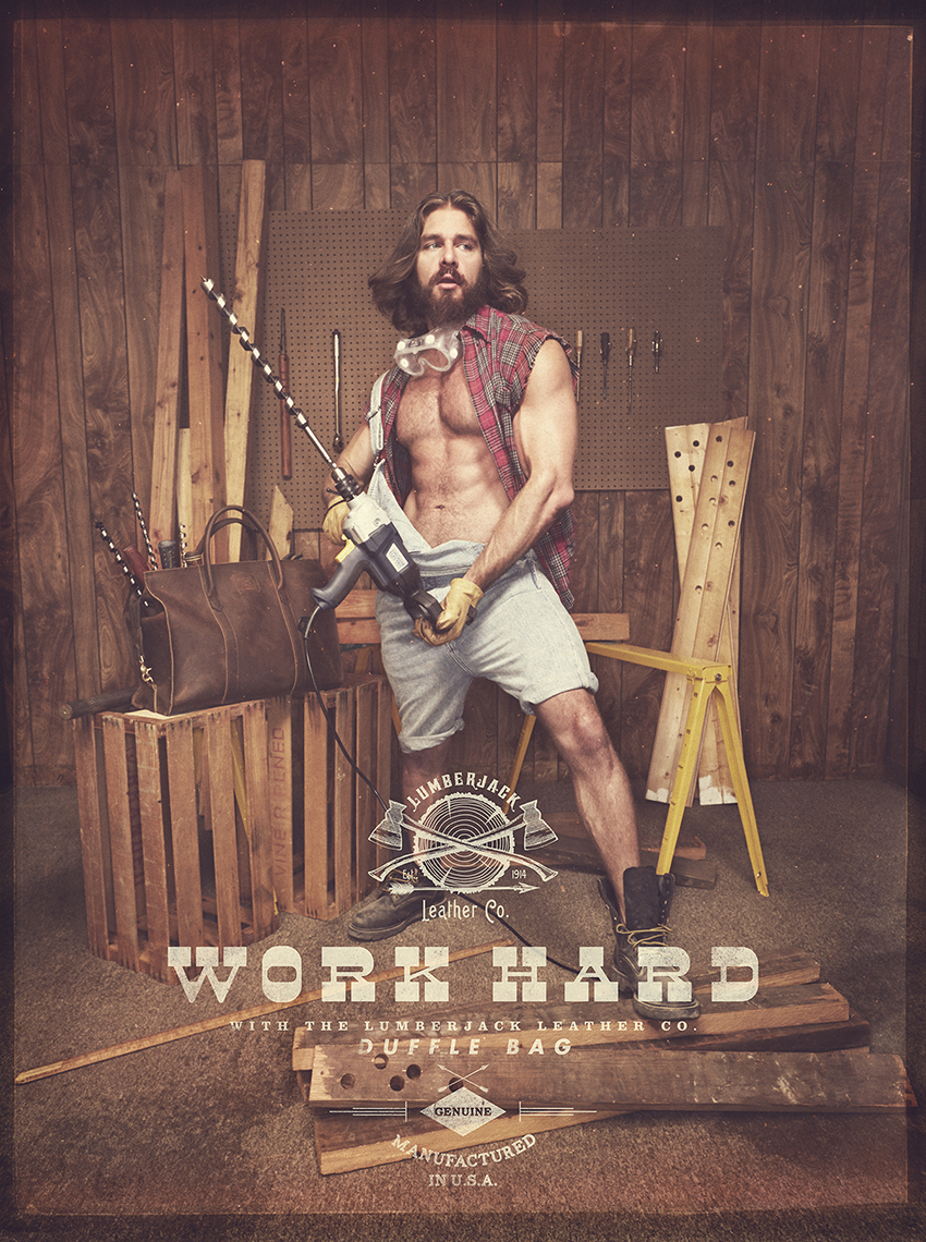 "LUMBERJACK LEATHER CO. - ""Work Hard"""