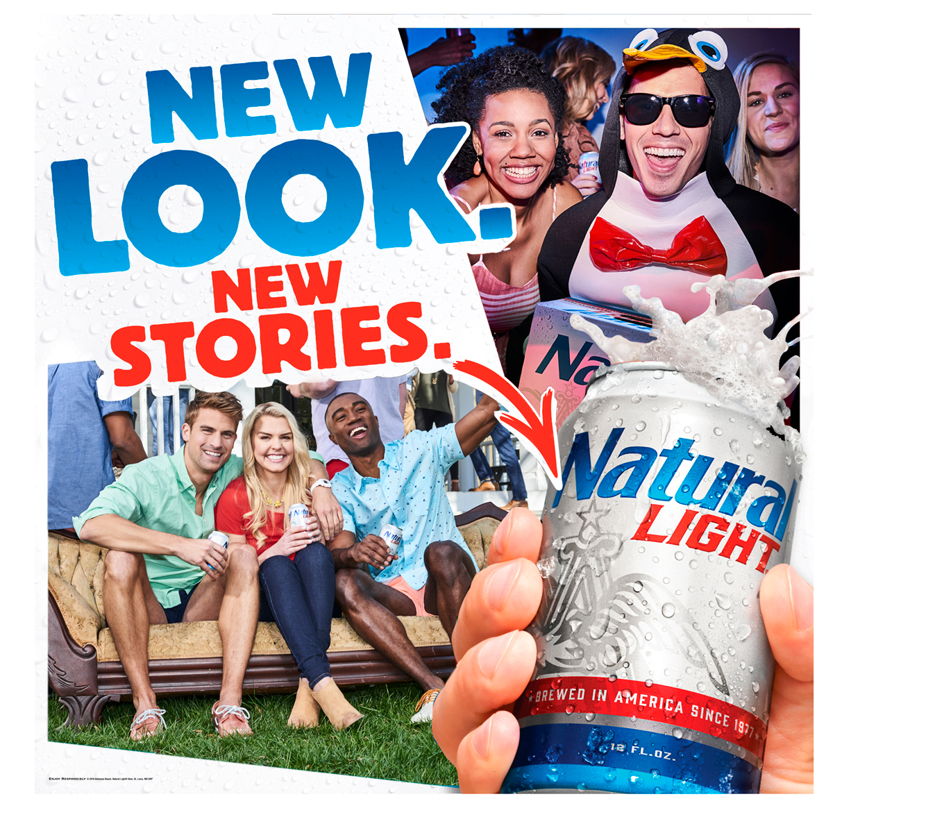 "NATURAL LIGHT BEER ""Every Natty Has A Story"""